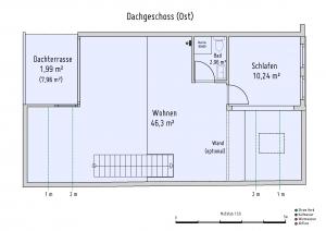 Plan Dachgeschoss Ost
