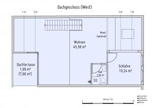 Plan Dachgeschoss West