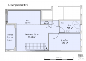Plan Obergeschoss 4 Ost